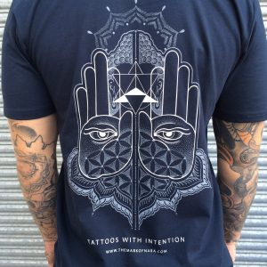 Tattoos with Intention Navy Tee